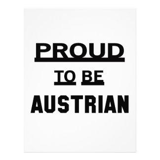 Proud to be Austrian Letterhead