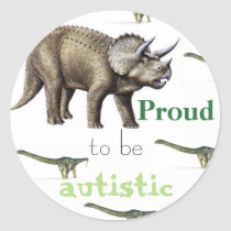 Proud to be autistic dinosaur sticker