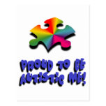 Proud to be Autistic me Post Cards