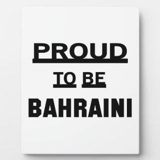 Proud to be Bahraini Plaque