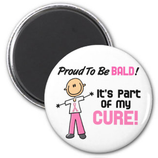 Proud To Be Bald Breast Cancer Stick Figure Magnets
