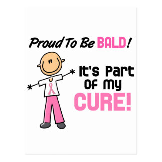 Proud To Be Bald Breast Cancer Stick Figure Postcard