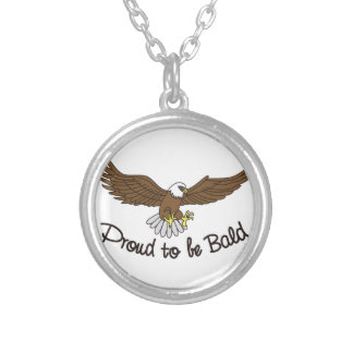 Proud to be Bald Round Pendant Necklace