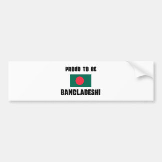 Proud To Be BANGLADESHI Car Bumper Sticker
