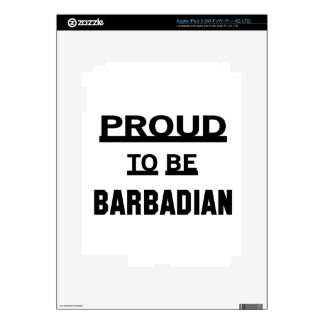 Proud to be Barbadian iPad 3 Decals
