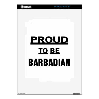 Proud to be Barbadian Skin For The iPad 2