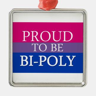 Proud To Be Bi-Poly Metal Ornament