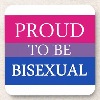 Proud To Be Bisexual Beverage Coaster