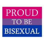 Proud To Be Bisexual Post Card