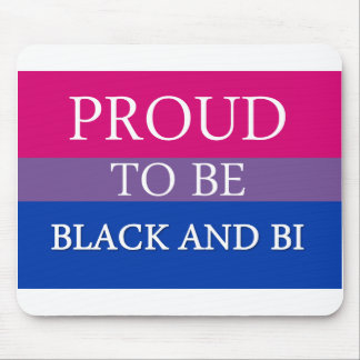 Proud to be Black and Bi Mouse Pad
