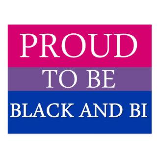 Proud to be Black and Bi Postcard