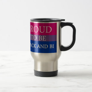 Proud to be Black and Bi Travel Mug
