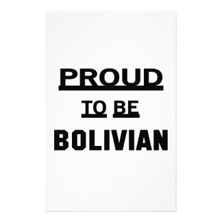 Proud to be Bolivian Stationery