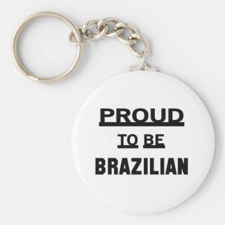 Proud to be Brazilian Basic Round Button Keychain