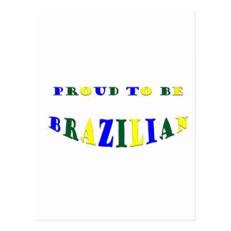 Proud to be Brazilian Postcard