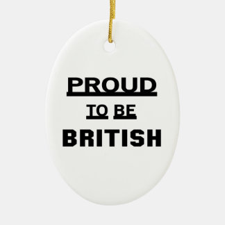 Proud to be British Ceramic Ornament