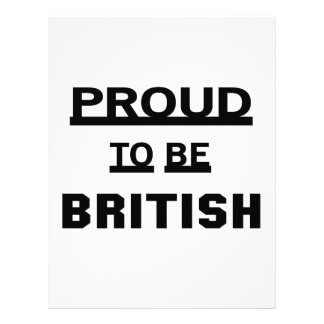 Proud to be British Letterhead