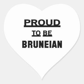 Proud to be Bruneian Heart Sticker