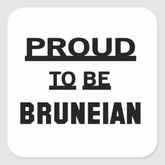 Proud to be Bruneian Square Sticker