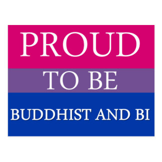 Proud to Be Buddhist and Bi Postcard