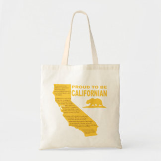 Proud to be Californian Tote Bag DK