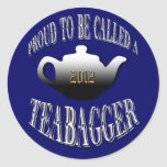 """""""PROUD TO BE CALLED A TEABAGGER"""" STICKERS"""