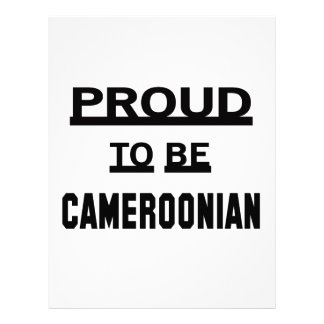 Proud to be Cameroonian. Letterhead