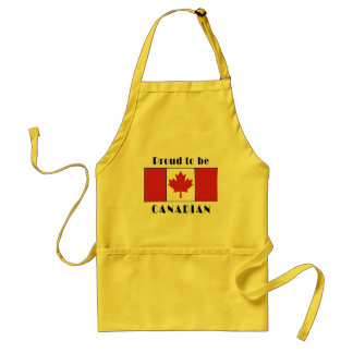 Proud To Be Canadian Adult Apron
