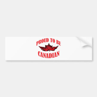 Proud To Be Canadian Bumper Sticker
