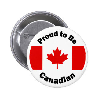 Proud to be Canadian 2 Inch Round Button