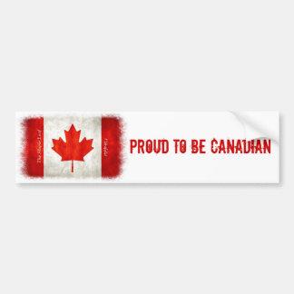 Proud to be Canadian - Flag Bumper Sticker Car Bumper Sticker