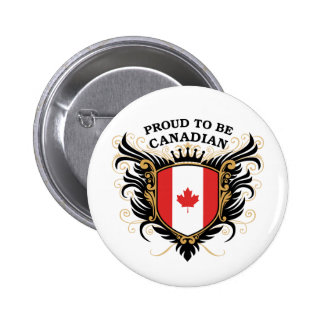 Proud to be Canadian Pinback Button