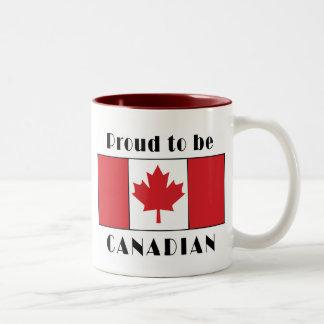 Proud To Be Canadian Two-Tone Coffee Mug