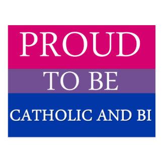 Proud to Be Catholic and Bi Postcard