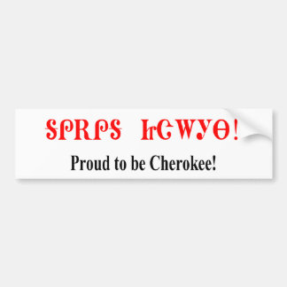 proud to be cherokee bumper sticker