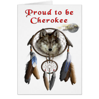 proud  to be cherokee card