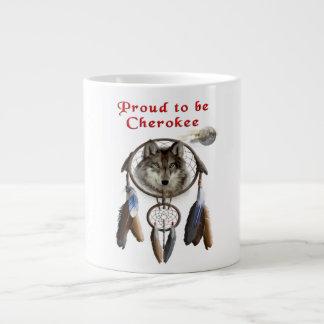 proud to be cherokee giant coffee mug