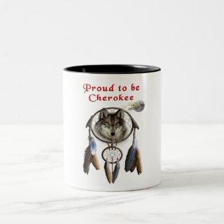 proud to be cherokee Two-Tone coffee mug