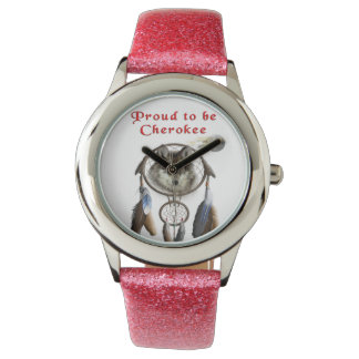 proud to be cherokee wristwatch