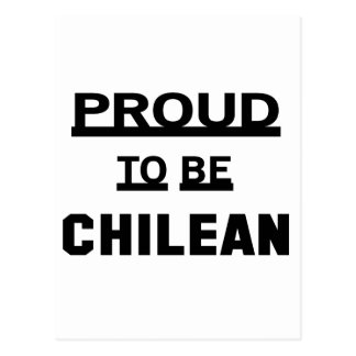 Proud to be Chilean. Postcard