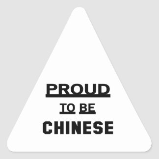 Proud to be Chinese. Triangle Sticker