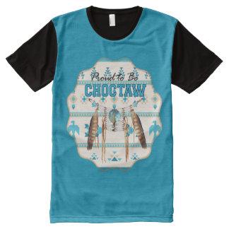 Proud to be Choctaw Thunderbird Panel T-shirt