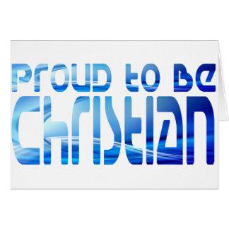 Proud to be Christian Bleu 2 Card