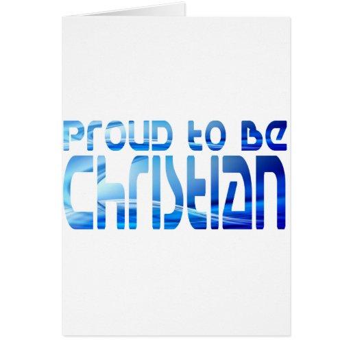 Proud to be Christian Bleu 2 Greeting Card