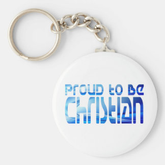 Proud to be Christian Bleu 2 Keychain