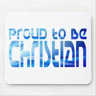 Proud to be Christian Bleu 2 Mouse Pad