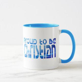 Proud to be Christian Bleu 2 Mug