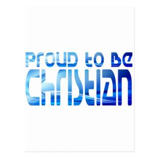 Proud to be Christian Bleu 2 Postcard