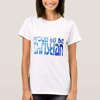 Proud to be Christian Bleu 2 T-Shirt