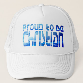 Proud to be Christian Bleu 2 Trucker Hat